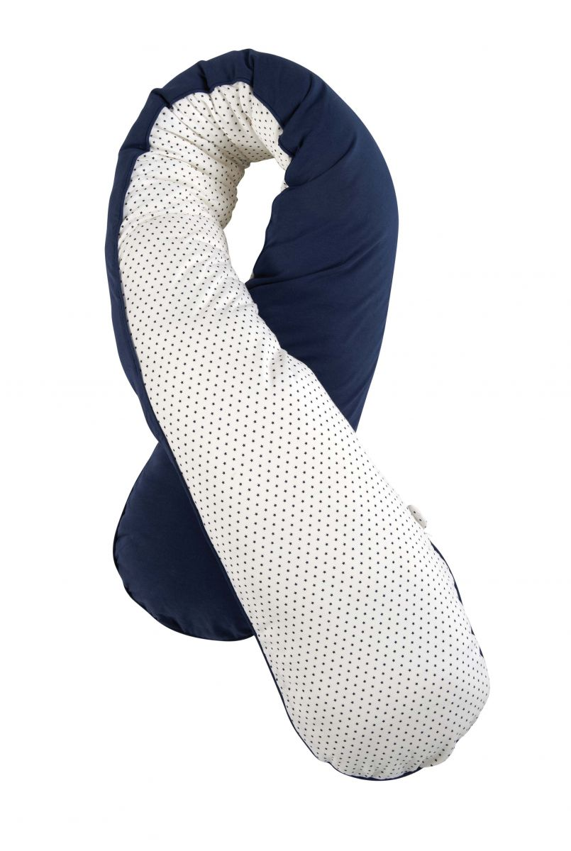 coussin d 39 allaitement confort bleu marine bleu marine. Black Bedroom Furniture Sets. Home Design Ideas