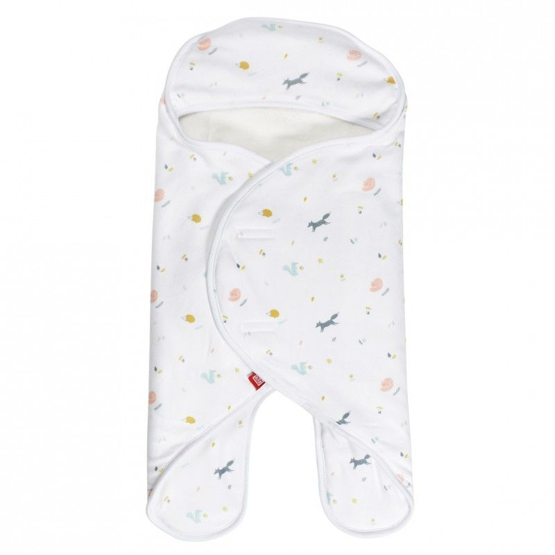 Babynomade double polaire 0-6 mois Happy fox/ blanc - 0-6M  HAPPY FOX/BLANC - RED CASTLE