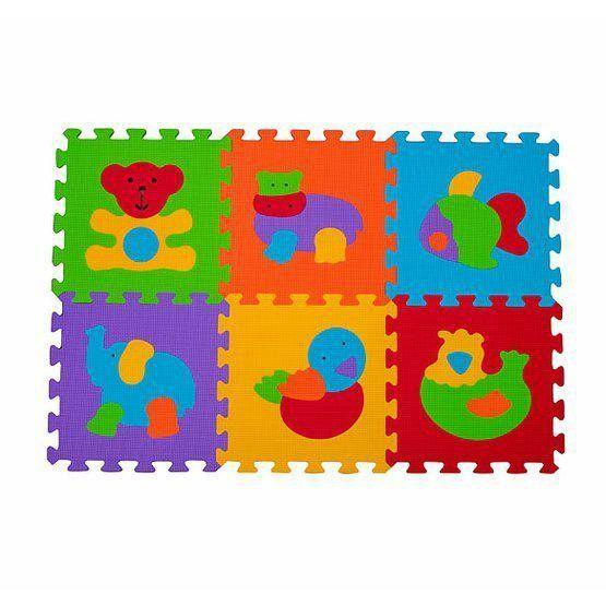 Tapis En Mousse Puzzle 6 Pcs Animaux Animaux Babyono