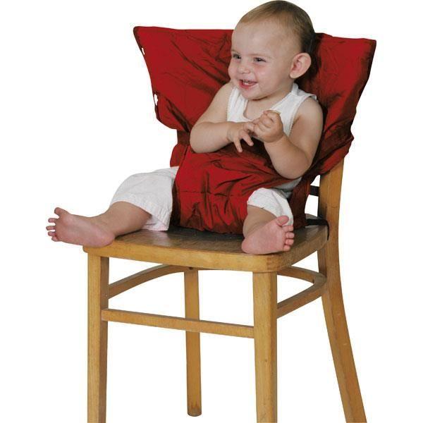 Rehausseur de chaise textile rouge rouge orchestra articles pour b b et listes de naissance - Rehausseur de chaise nomade ...