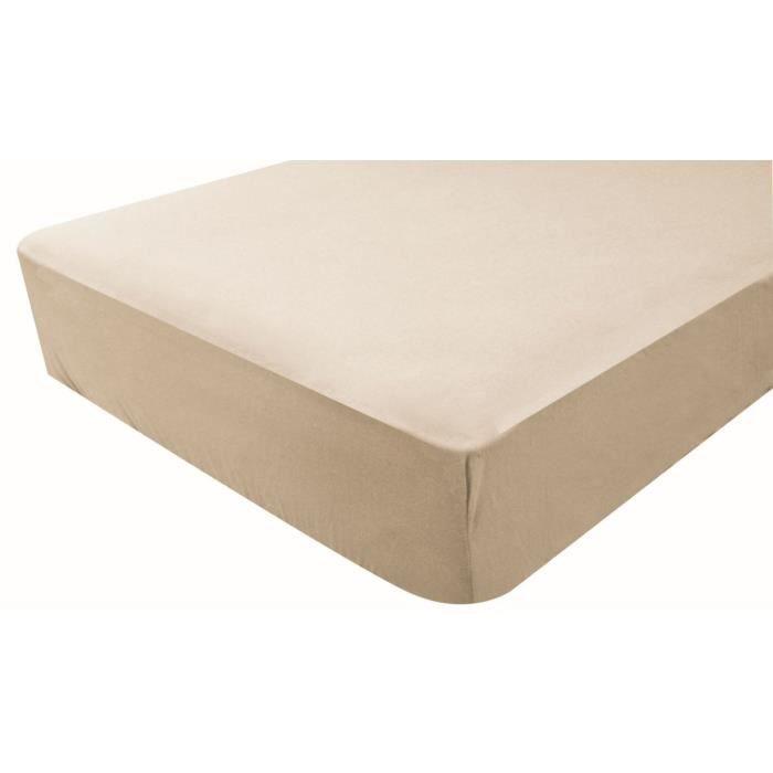 Drap housse coton 60 x 120 cm 60x120 nougat doux nid for Drap housse 60x120